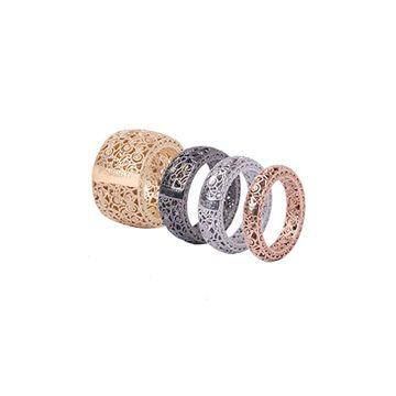 Anelli in argento 925‰ dorato, rosa, bianco e rutenio www.mumatigioielli.it
