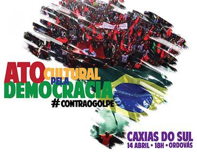 "Check out new work on my @Behance portfolio: ""Ato Cultural Pela Democracia #CotraOGolpe""…"