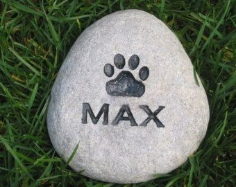 PERSONALIZED Dog & Cat Memorial Stones 3-4 Inch Memorial Stone