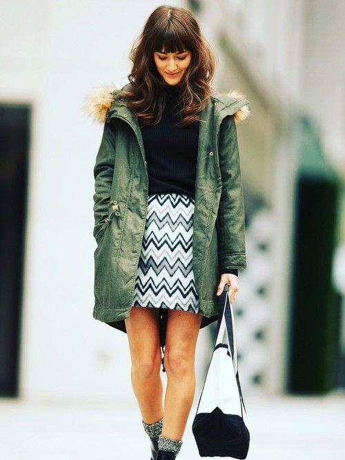 幾何学模様のスカートに合わせれば個性も際立つハートモッズコートのトレンド♡人気・おすすめのレディース一覧♡