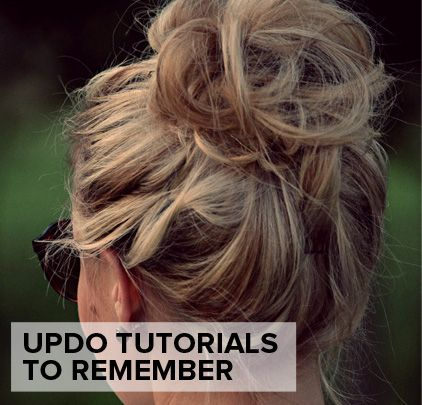 Updo tutorials for just about any occasion. These are great to remember and use