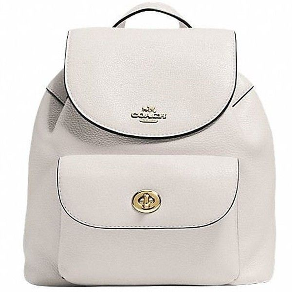 Amazon.com: COACH MINI BILLIE BACKPACK IN PEBBLE LEATHER IMITATION... ($190) ❤ liked on Polyvore featuring bags, backpacks, miniature backpack, white mini bag, gold backpack, mini backpack and backpack bags