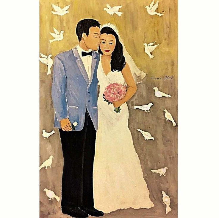 Wedding Acrylic on Board 2017