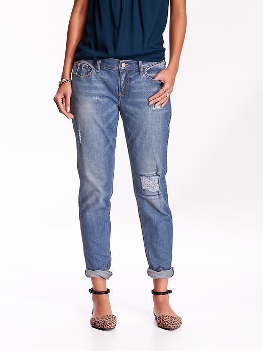 Womens Boyfriend Skinny Ankle Jeans