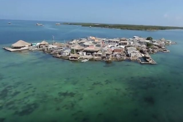 (PHOTO: YouTube/Adventure Colombia)  World's most crowded places:  The most crowded island (Santa Cruz del Islote, off the coast of Colombia, is the world's most densely populated island, with 1,247 people squeezes into its .01 square kilometres. The students attend school on the mainland and residents have to use the neighbouring islands' cemeteries and leisure activities. Fresh water is shipped by Colombian Navy ships and there is no electricity on the island....)