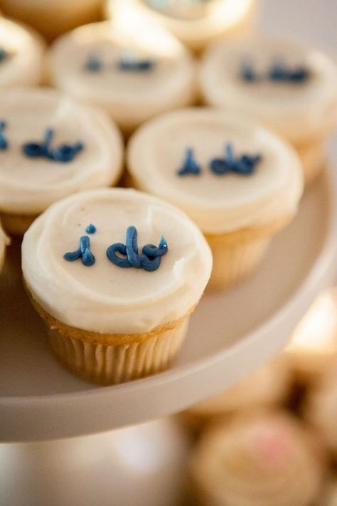 """7 Perfect Bridal Shower Food Ideas. These """"I Do"""" cupcakes are adorable!"""