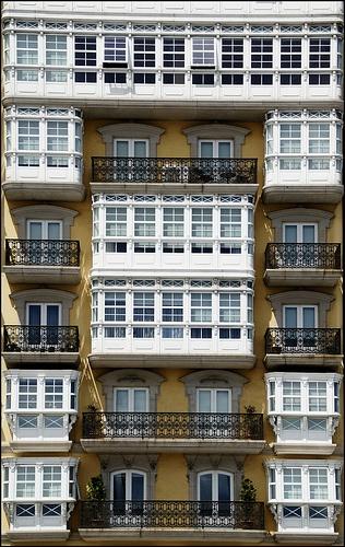 Fachada   A Coruña  Spain    by migajiro, via Flickr