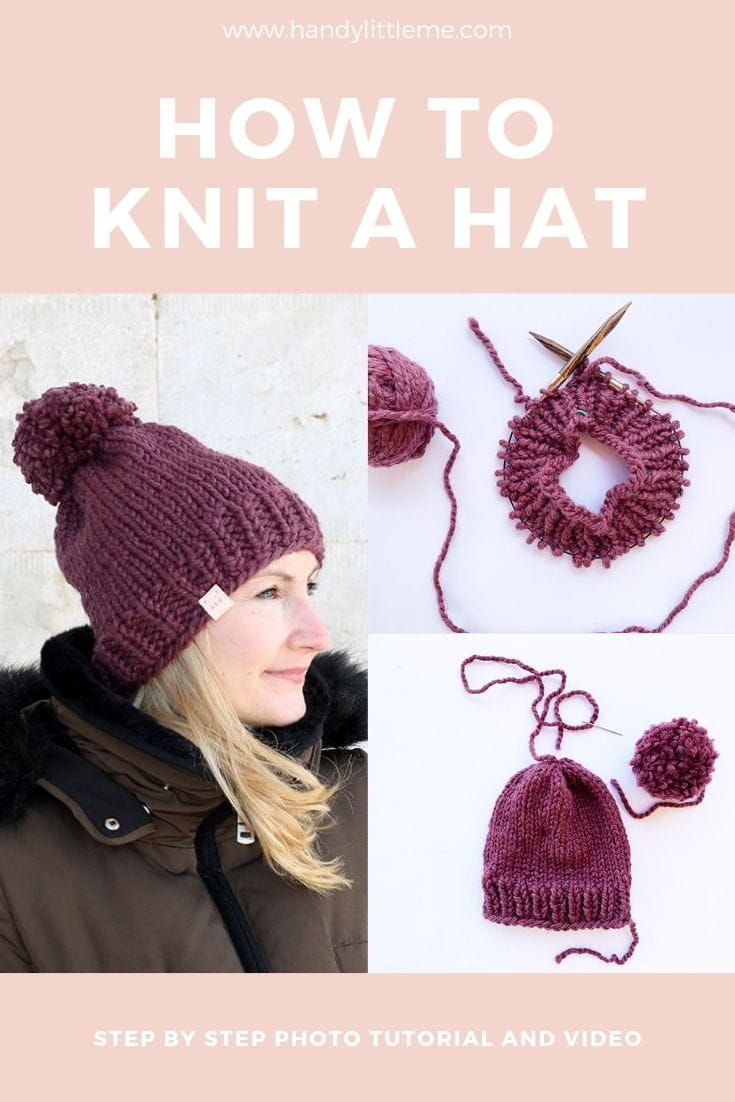 How To Knit A Hat With Circular Needles Easy Knit Hat Knitting Knitting Patterns Free Hats