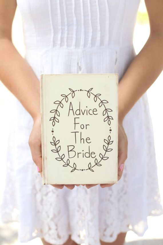 Rustic Guest Book Advice Book Shabby Chic Wedding Bridal Shower Decor QUICK shipping available