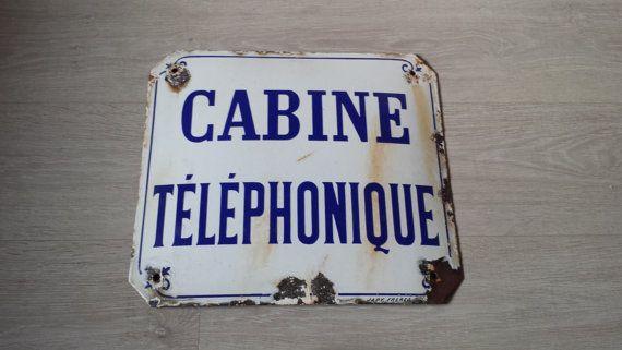 Franse emaille bord, openbare straat teken, antieke teken, Franse teken, Frans straat teken, teken van antiek emaille, oude industriële teken, Loft Decor