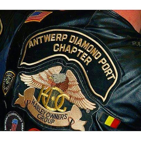 ANTWERP DIAMOND  PORT  HOG CHAPTER  #HOG #harleydavidson #Harley #bikerlifestyle #bikersofinstagram #bikers #brotherhood #mc #motocycle #motocicleta #motorrad #moto #motards #logo #patch #illustration #dessin #drawing #design #designer #belgium #belgique #apparel #jacket