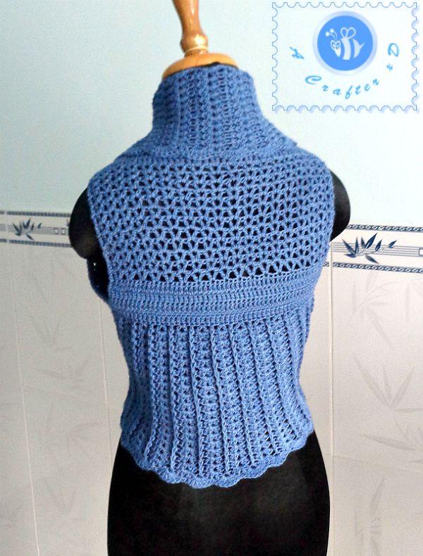 Gorgeous Shawl Cir-Collar Vest from Maz Kwok Designs