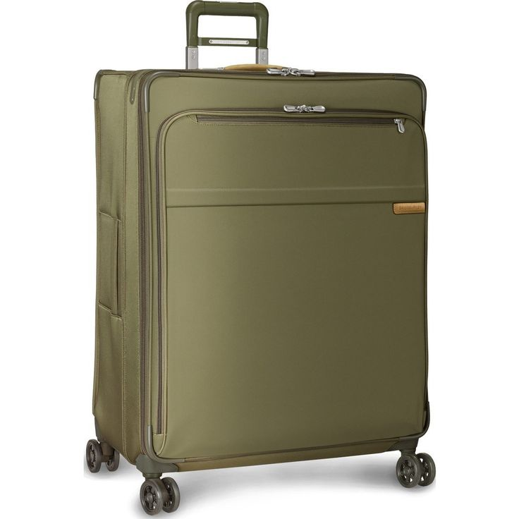 Briggs & Riley Extra Large Expandable Spinner Suitcase | Olive