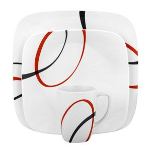 Corelle Squares Fine Lines 32-Piece Dinnerware Set, Service for 8  This one is $90.00 at walmart on line