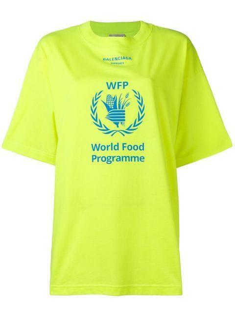 05968ead Shop Balenciaga World Food Programme T-shirt | Interests in 2019 ...