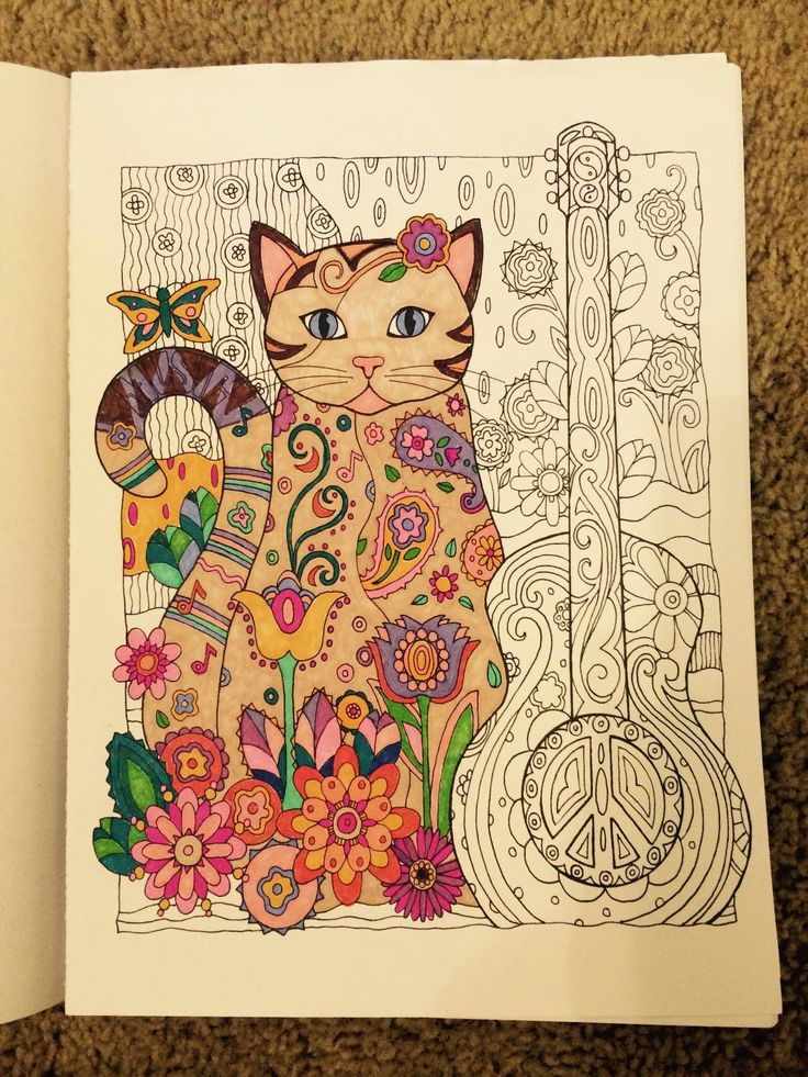 Creative Haven Cats Coloring Book Books Marjorie Sarnat Colouring TechniquesColoring BooksAdult