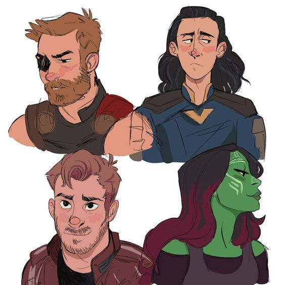 Thor  Loki  Peter Quill (Starlord)  Gamora  They're like the