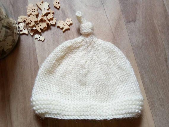Gender Neutral Bonnet Knit Bonnet Baby Girl Crochet Baby Shower Gift Unisex RTS READY to SHIP Baby Hat Newborn Bonnet Baby Boy