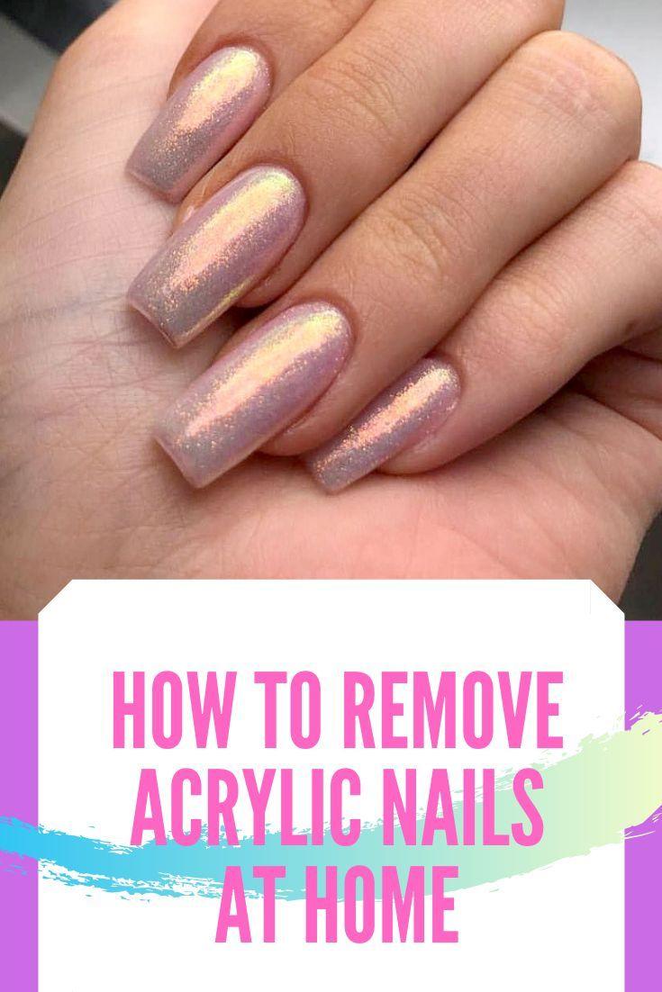 How To Remove Acrylic Nails At Home Nail Nailart Nailpolish Nailswag Coffinnails Squova Remove Acrylic Nails Acrylic Nails At Home Take Off Acrylic Nails