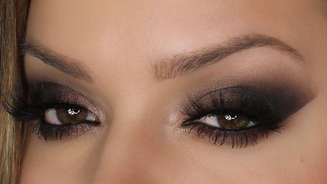 Sevgililer Günü Siyah Dumanlı Göz Makyajı Yapımı - Bu romantik ve özel gün Sevgililer Günü için uygulayabileceğiniz siyah dumanlı göz makyajı tekniği (Date Night Eyes For Valentines Day Makeup Video)