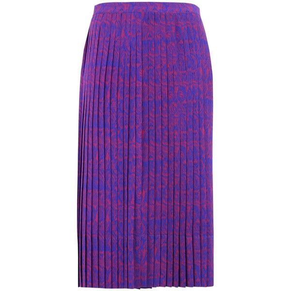 Laura Strambi 3/4 Length Skirt ($475) ❤ liked on Polyvore featuring skirts, purple, cosmic skirt, galaxy skirts, long purple skirt, galaxy maxi skirt and purple maxi skirt