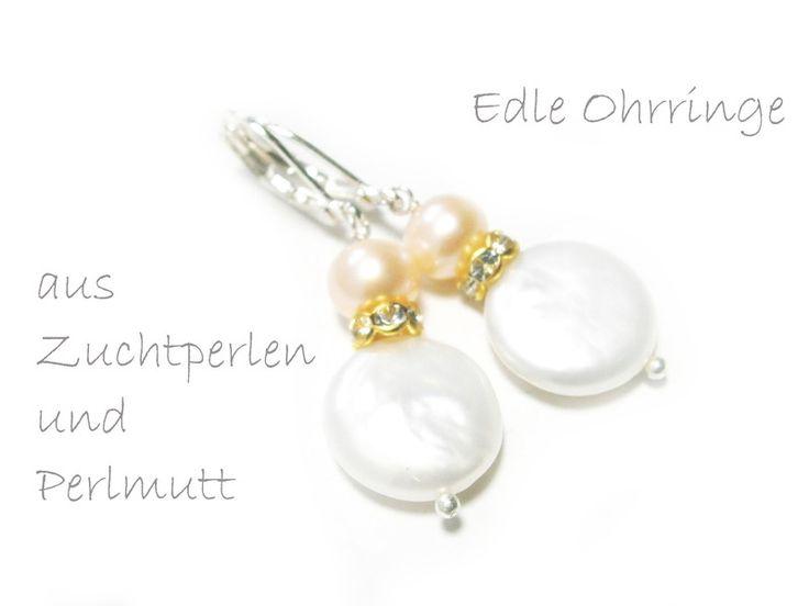 Ohrringe Perlmutt von DeineSchmuckFreundin - Schmuck und Accessoires auf DaWanda.com
