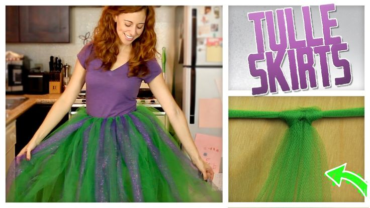 """http://bit.ly/sub2Gurl Do It, Gurl """"No-Sew Tulle Skirt"""" Halloween is right around the corner, so Jamie is kicking off October with a DIY that could be useful..."""