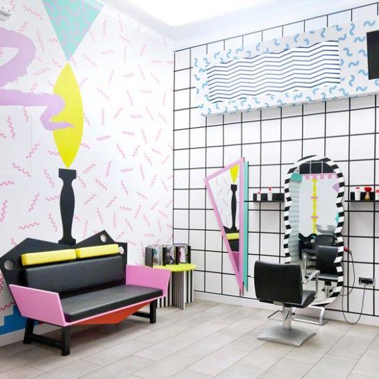 a Memphis inspired salon   Ljubljana, Slovenia