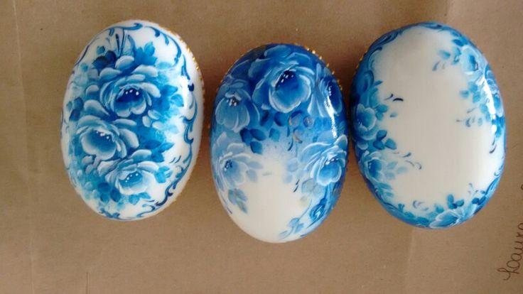 Sabonetes de rosas azuis