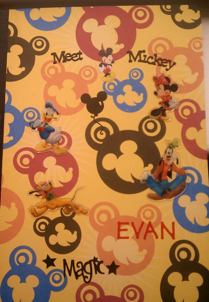 Another one of my hand decorated and embellished comp notebooks.  This one is perfect to journal your trip to Walt Disney World! Each child can make their own or have one everyone contributes to!!! You can put your maps, brochures, photos, stories, autographs etc in here and have magical memories for years to come! Who doesn't love Mickey Mouse?  <3
