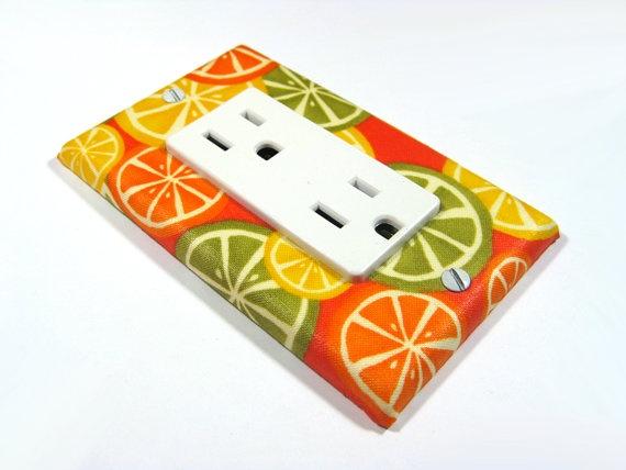 Orange Citrus Kitchen Decor Decora Style Rocker By Modernswitch
