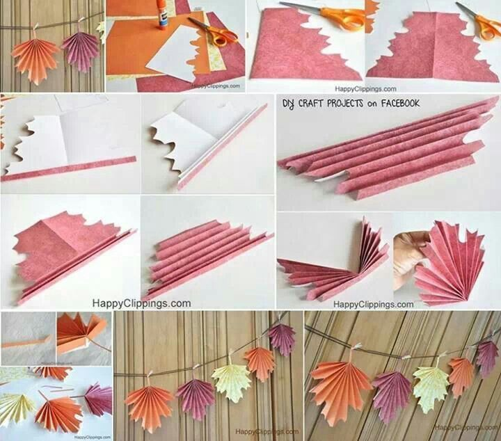 folded paper leaves crafting pinterest