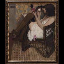 """Alfons Karpiński """"Jane z japońską laleczką"""" (1908), Kamienica Szołayskich, Kraków"""