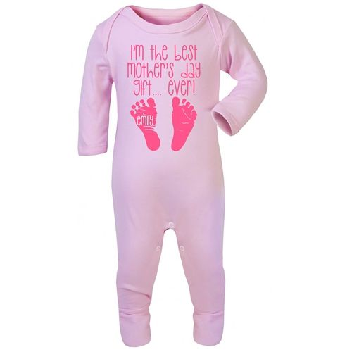 Personalised Baby Onesie for Mother's Day. A cute way to celebrate your first Mother's Day and an adorable keepsake. WowWee.ie | €25
