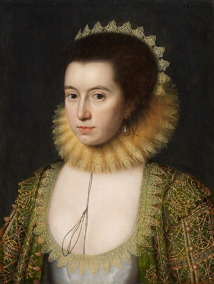 Wm.Larkin painted this long missing portrait of Lady Anne Clifford in 1616, when she was 28. As a child she was a favorite of Queen Elizabeth I of England; she also danced in masques with Anne of Denmark, queen of King James I of England. She lived an eventful life; the original site is well worth reading