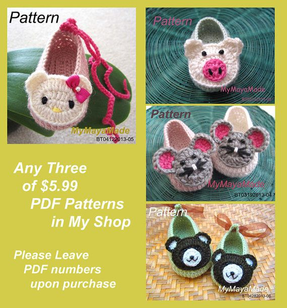 Any Three of  PDF Patterns in My Shop  Please See by MyMayaMade, $15.00