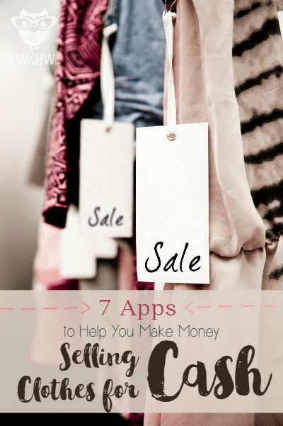 Great sites with apps available to help you make more money selling clothes for cash