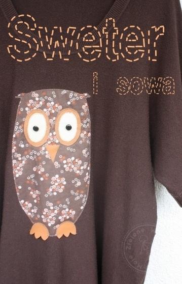 -= Moje Zielone Wzgórze - kreatywne ż(sz)ycie! =-: DIY - Stary sweter i sowa!!! :)