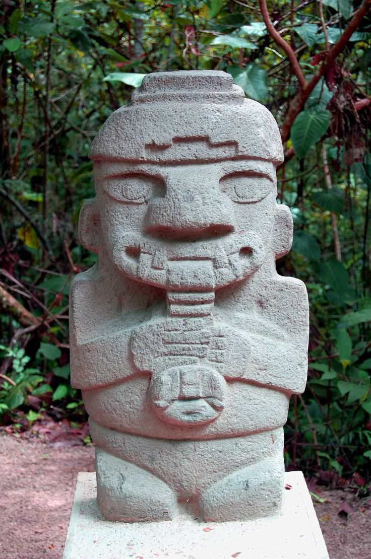 Deity in San Agustin Archaeological park, Colombia.