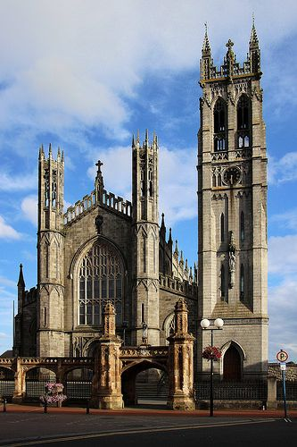 St Patrick's Catholic Church~ Dundalk, Ireland. It was finished in 1842. Its interior was inspired by the Exeter Cathedral.