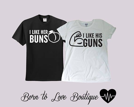 104af392 Buns / Guns Couple Gym shirts- Bride / Groom shirts - Couple shirts ...