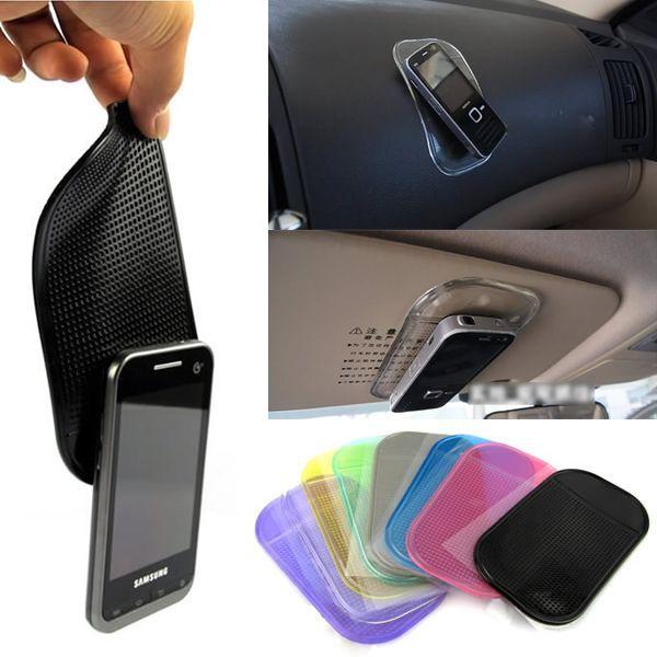 2017 שולחן anti-להחליק Sticky Pad Mat ברכב עבור גאדג 'טים אבזר המדף הנוגד ההחלקה מאט למחזיק סלולרי mp3 GPS טלפון לרכב אביזרי רכב
