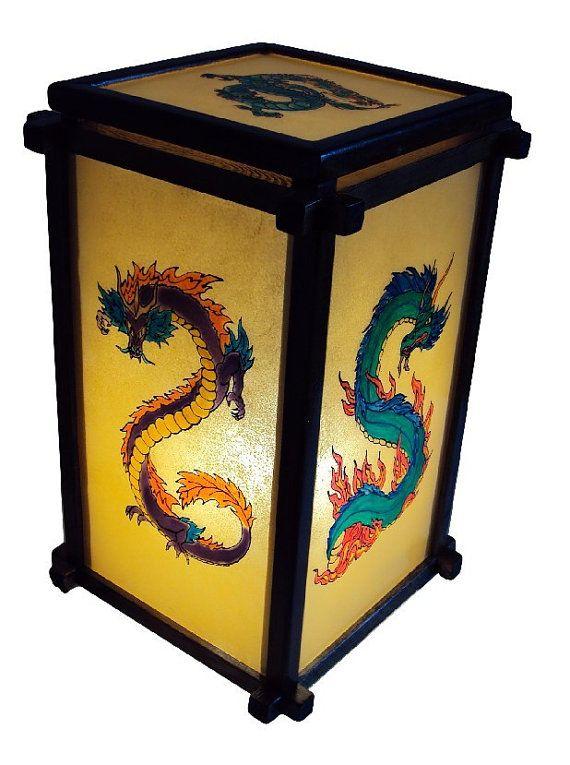 Светильник витражный Драконы от Stainedglasss500 на Etsy