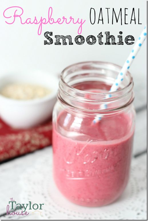 INGREDIENTS 1 Cup Frozen Red Raspberries 1/2 Cup Greek Vanilla Yogurt 3/4 Cup Milk 1/2 Cup Uncooked Oatmeal 1 Teaspoon Honey