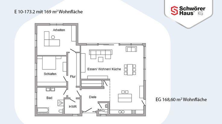 Bungalow con tetto a padiglione - E 10-173.2 - SchwörerHaus KG