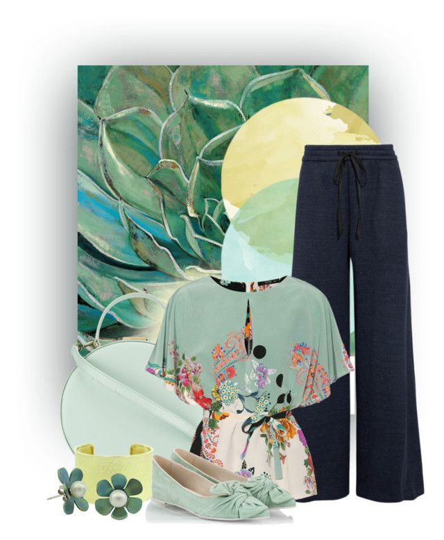 """Agave Flower"" by sonjanaimann ❤ liked on Polyvore featuring ADAM, Tammy & Benjamin, Etro, RAS and Todd Reed"