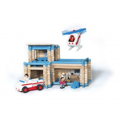 Jeujura First aid station with helicopter and ambulance Details : 125 piece(s), 2 character(s), 1 truck(s), 1 helicopter * Age : From 3 years old * Fabrics : Wood * Packaging: Length : 39 cm, Width : 32 cm, Depth : 11 cm. * FSC certificate * Made in : Fran http://www.MightGet.com/january-2017-13/jeujura-first-aid-station-with-helicopter-and-ambulance.asp