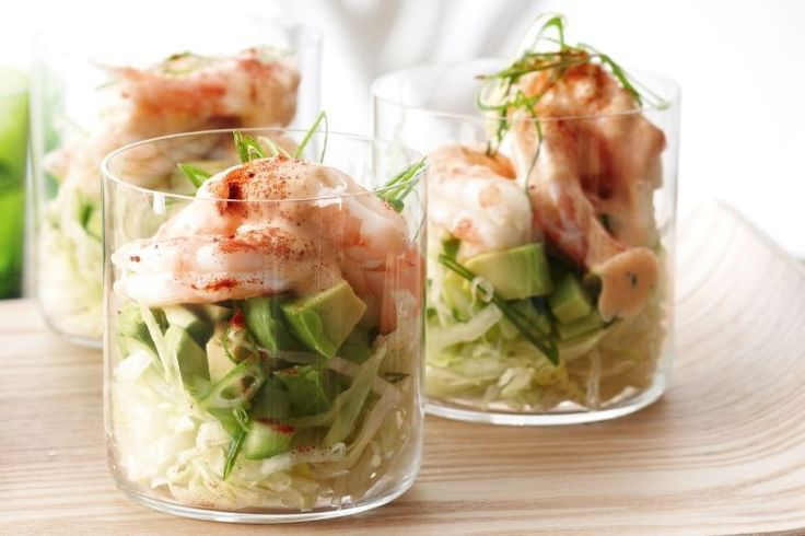 Prawn cocktails with smoky mayonnaise - delicious.