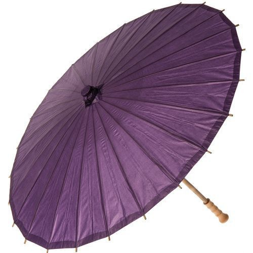 32 Inch Premium Paper Parasol - Purples
