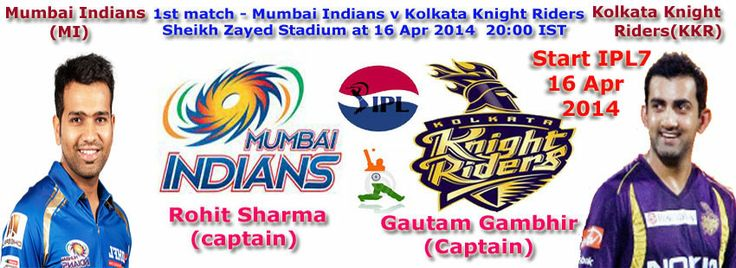 IPL will be starting from 16 April 2014 to 01 June 2014 and opening ceremony will be starting on 15 th april, 2014 in Abu Dhabi. This Indian Premier League  is just another big County cricket in India. This IPL Matches will be held in India & United Arab Emirates. Sony Set Max, Sony Six and lots of TV channel will live telecast this IPL 7 opening ceremony live streaming.Teams are RR, RCB, KXIP,DD, MI, SRH, KKR, CSK